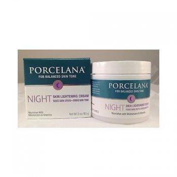 Spots PORCELANA Fade foncé traitement de nuit Crème éclaircissante 3oz/85g